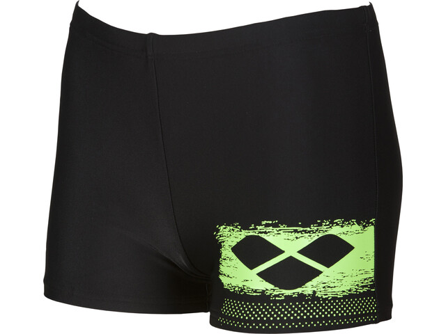 arena Scratchy Short Garçon, black-shiny green